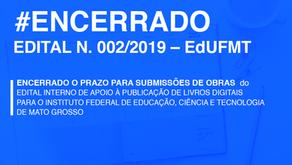 ENCERRADAS AS INSCRIÇÕES PARA O EDITAL DE PUBLICAÇÃO DE OBRAS DIGITAIS DO IFMT