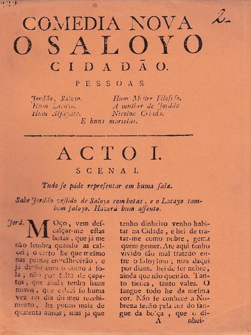 COMÉDIA NOVA: O SALOYO CIDADÃO. COLEÇÃO MEMÓRIA SOCIAL DE CUIABANIA. SÉRIA TEATR