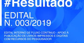 RESULTADO FINAL DO EDITAL DE PUBLICAÇÃO N. 003/2019