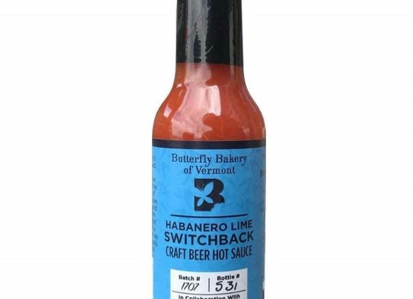 Butterfly Bakery of VT Habanero Lime Switchback Craft Beer Hot Sauce