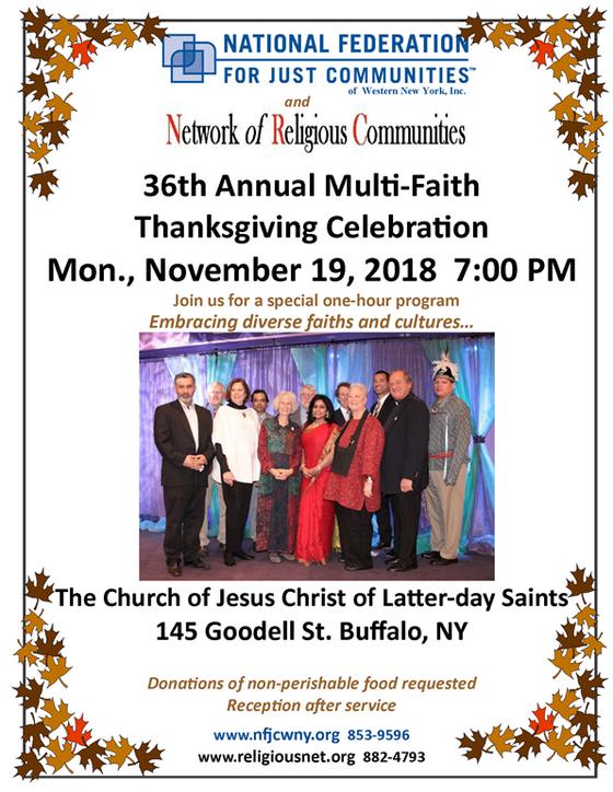 36th Annual Multi-Faith Thanksgiving Celebration 11/19