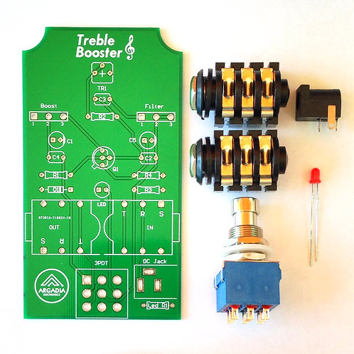 DIY R-Master Treble Booster Kit PCB and more