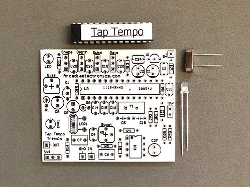 ANALOG TREMOLO WITH TAP TEMPO PCB AND MORE