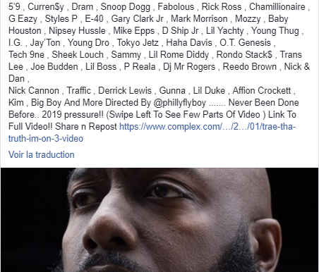 Trae Tha Truth clippe avec 80 guests