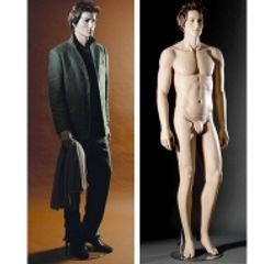 манекен телесный  мужской с лицом и пари