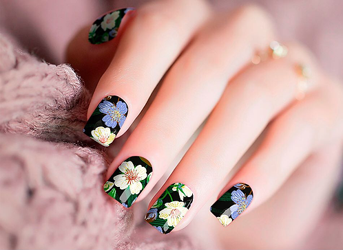 Floral Nails Nail Wraps