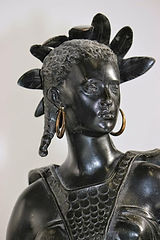 Image of sculpture of a real American Indian woman who is now called African-American.