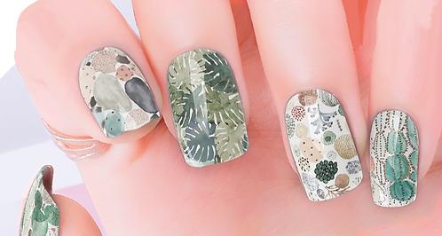 Desert Green Nail Wraps
