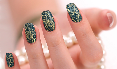Royal Paisley Nail Wraps