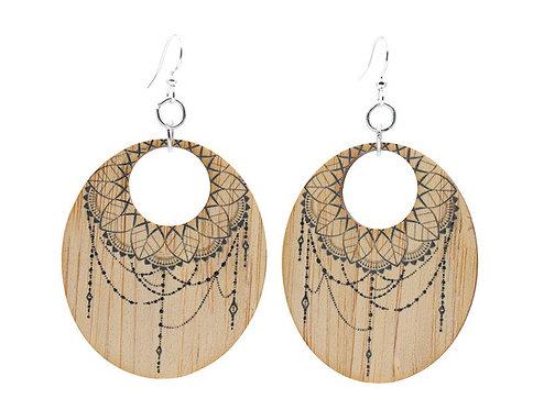 Dreamcatcher Bamboo Earrings #968