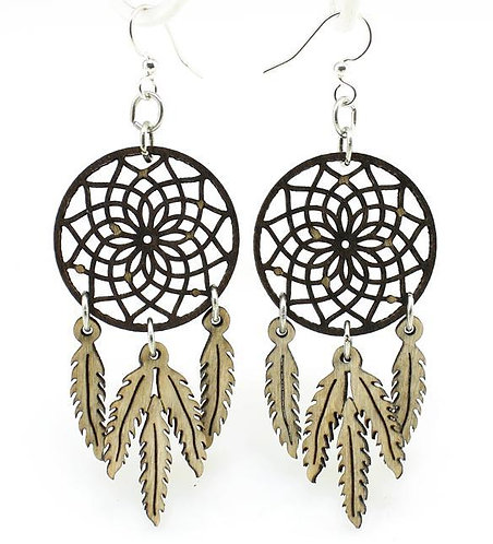 Dreamcatcher With Feather Earrings #1518