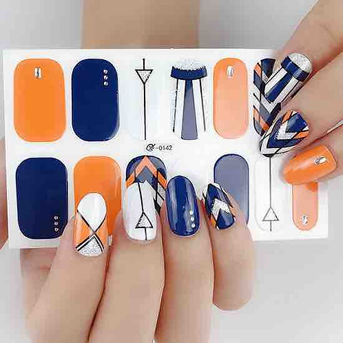 Geographic Gel Nail Wraps