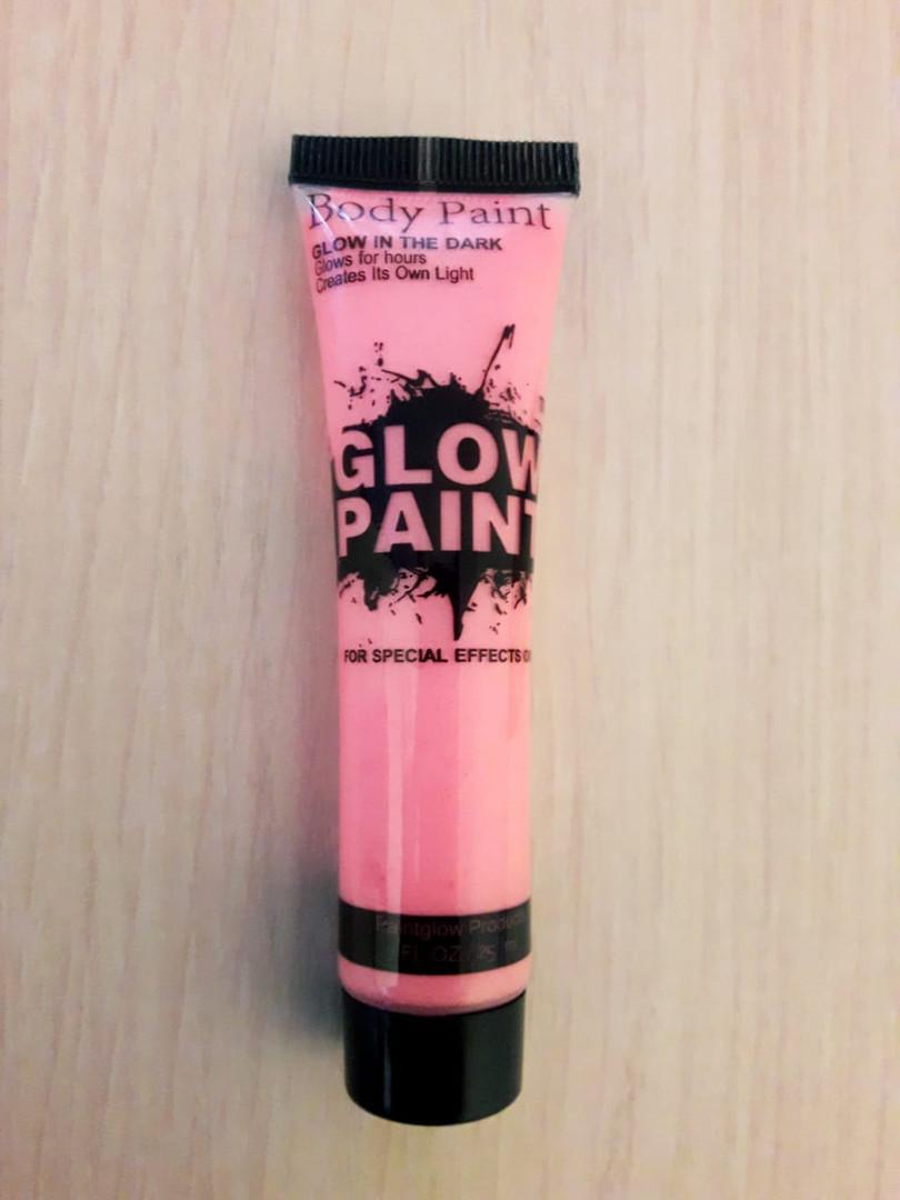 Неоновый грим длялица Glow Paint розовый