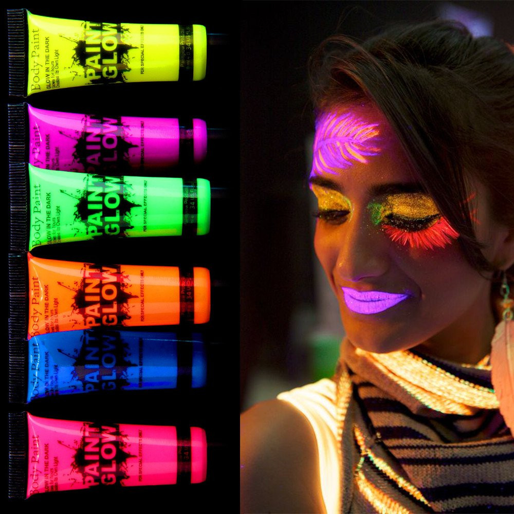 Неоновый грим длялица Glow Paint