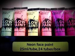 Неоновый грим лица Glow Paint