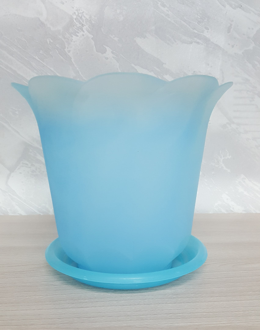Кашпо Тюльпан синее