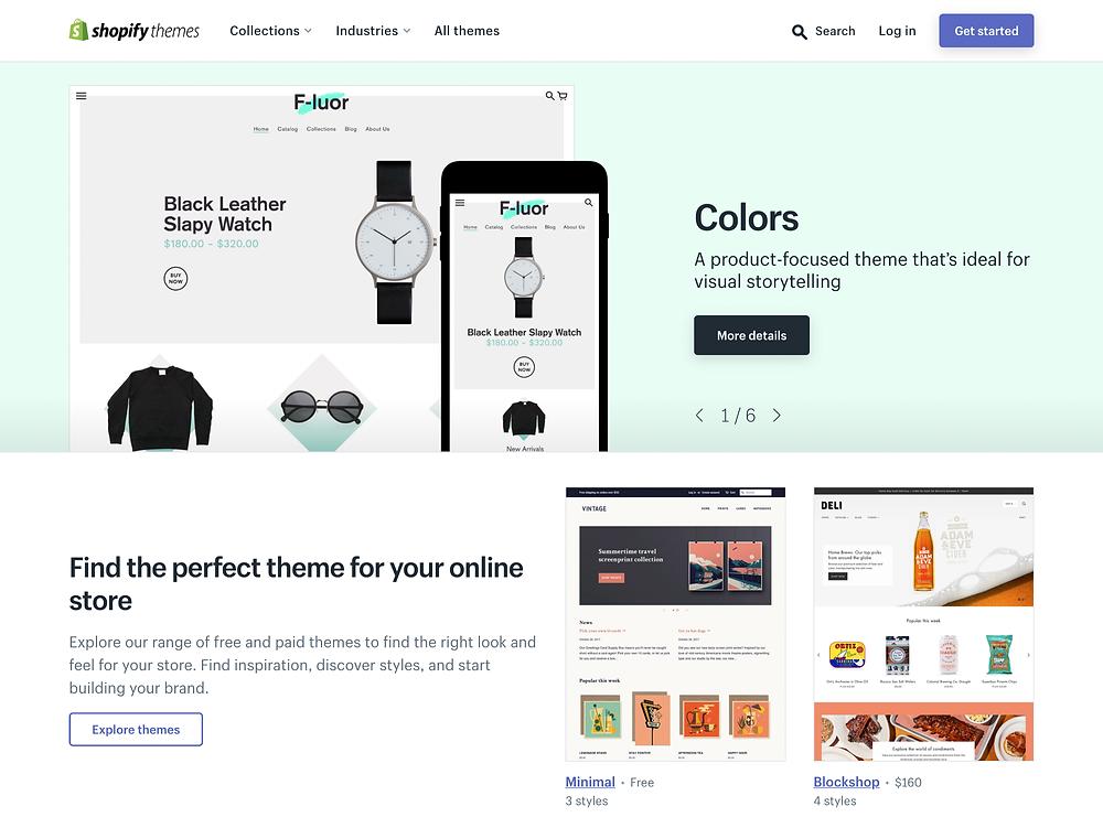 Shopify Theme —豐富的免費和付費電商網站版型