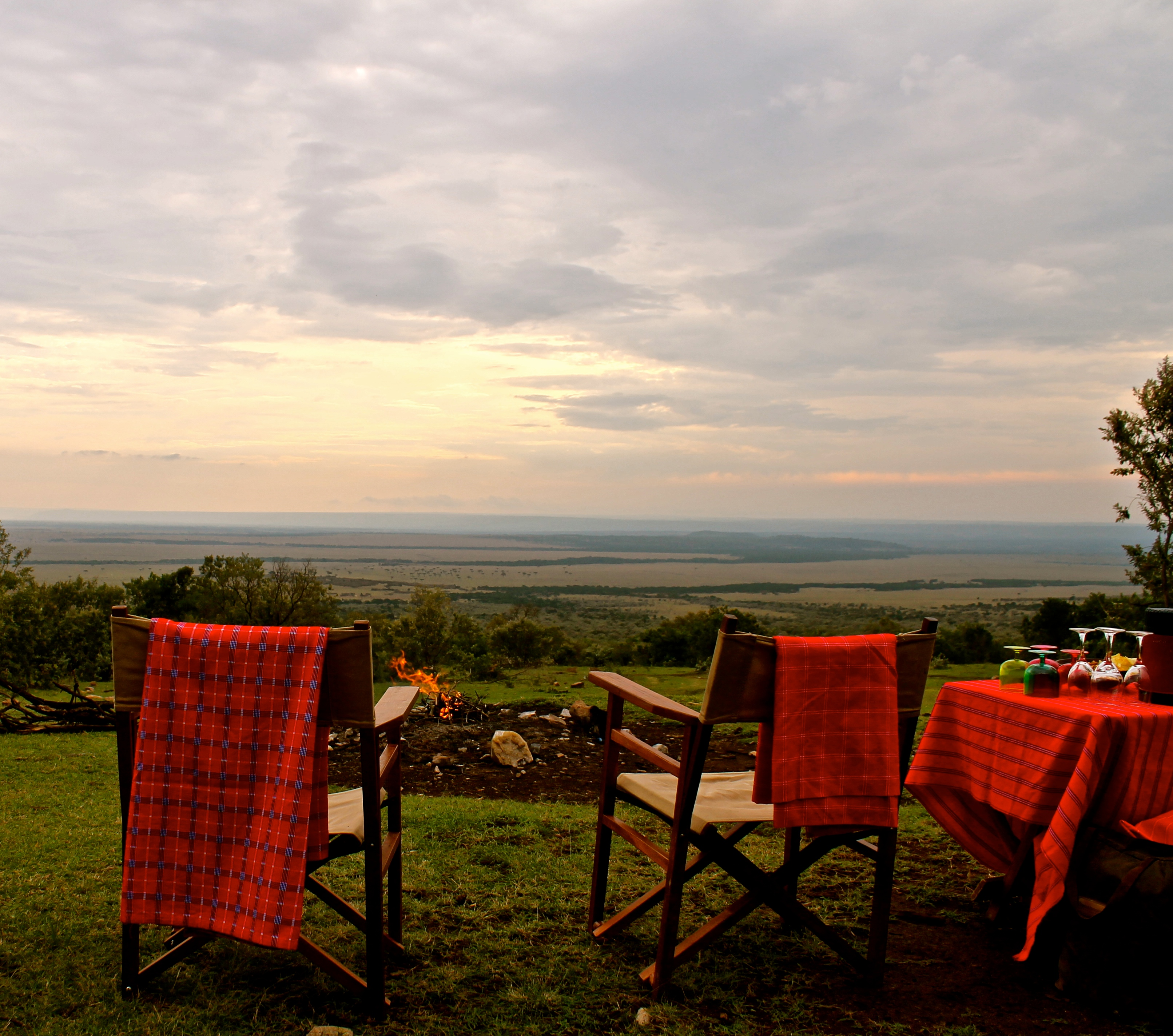 Sunset across the mara