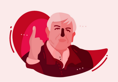 Infographic character - AMLO -
