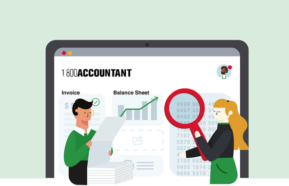 Bookkeping illustration for Accountant Firm