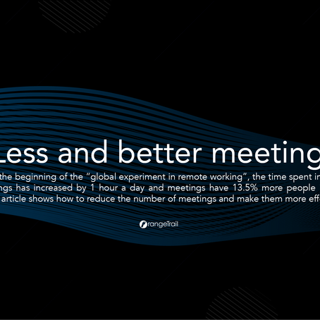 #FutureofWork Less and better meetings