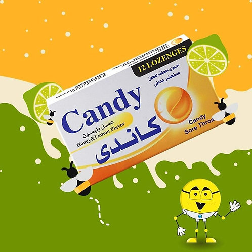 Candy Sore Throat Honey & lemon Flavor