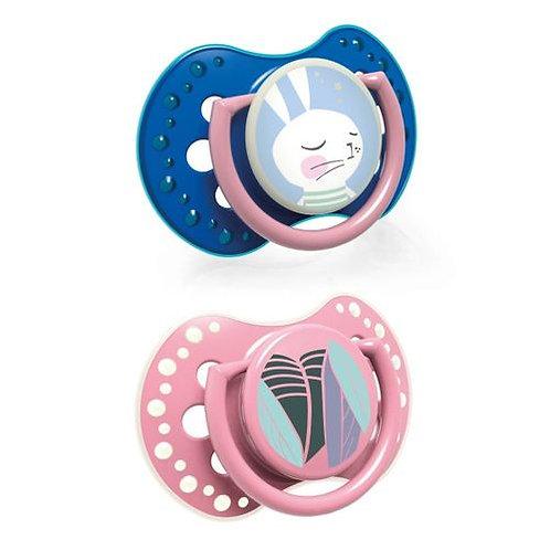 lovi silicone dynamic soother 3-6 rabbit girl- 22/859