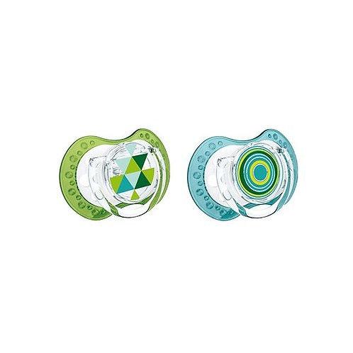 lovi silicone dynamic soother 0-3m green blue- boy- 22/833