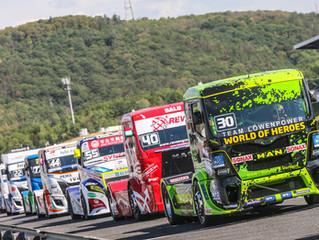 Sascha Lenz taking the lead in the FIA ETRC
