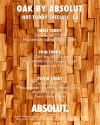 Feature Menu for The Hot Toddies Show