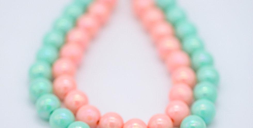 Mint Cream Layered Cake Necklace