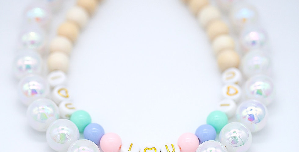 I Heart You Layered Cake Necklace