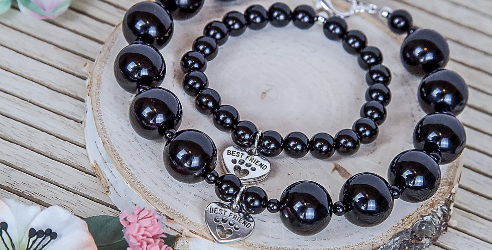 One Love Dog Necklace and Matching Bracelet