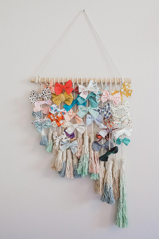 A wall decor hair bow hangar