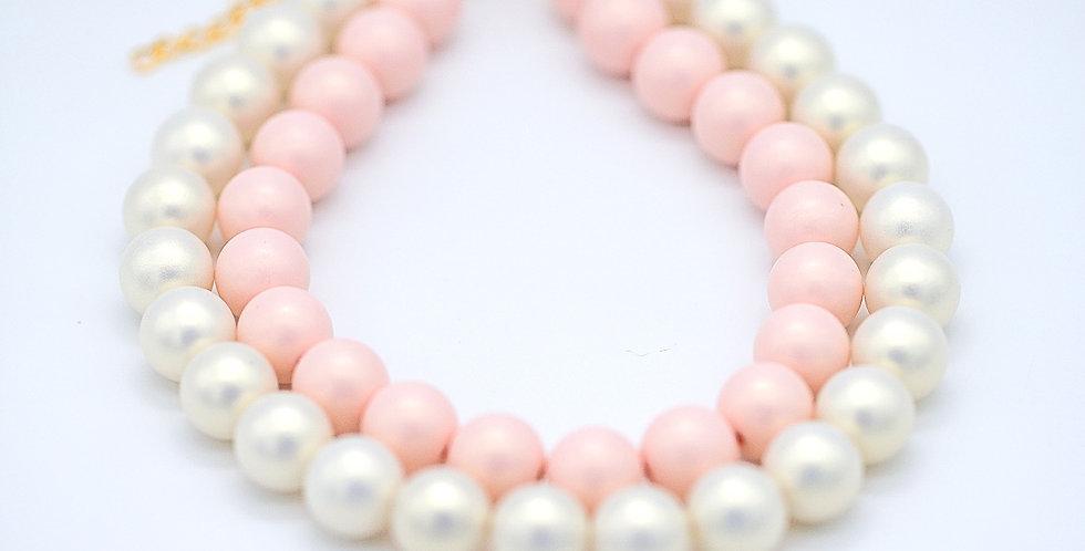 Sassy Pink Layered Cake Necklace