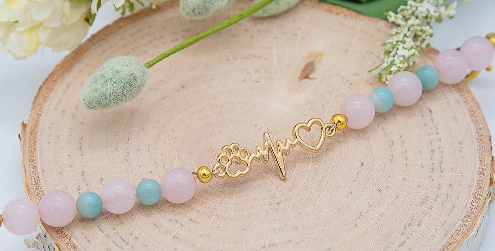 One Heart Dog Mom Bracelet