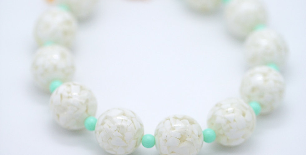 Minty Fresh Marble Necklace