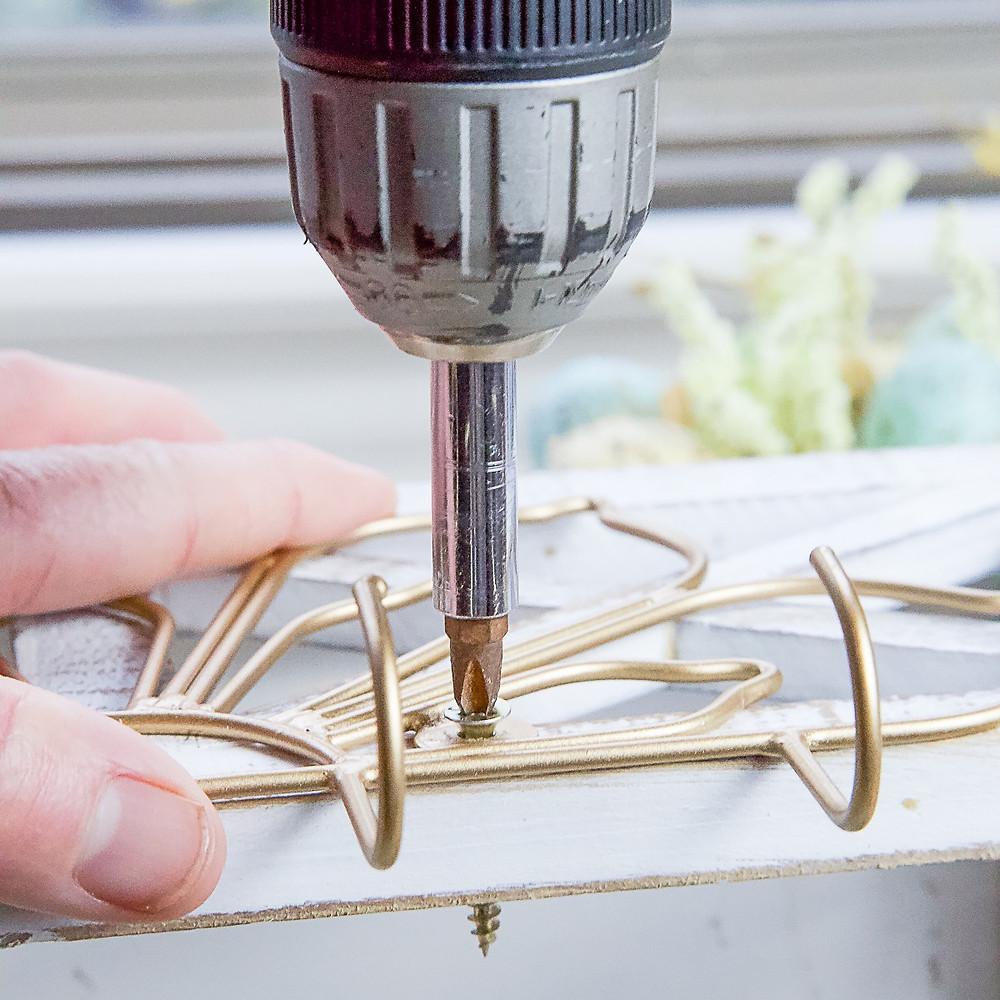 Drilling Decorative Hook on Shelf for DIY Necklace Holder