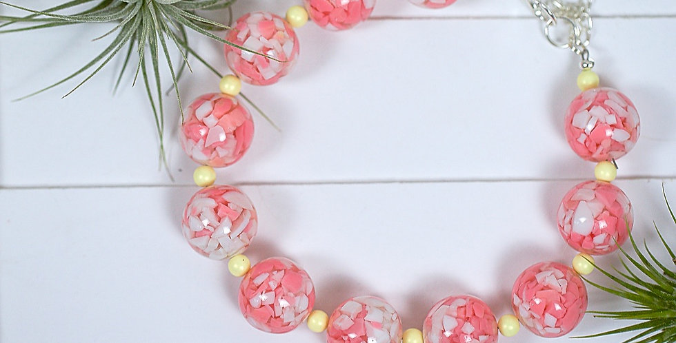 Peachy Marble Necklace
