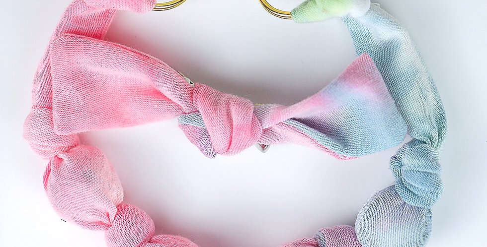 Tie Dye Glam Fabric Necklace