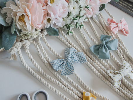 Easy DIY Hair Bow Holder to Organize Your Dog's Hair Bows