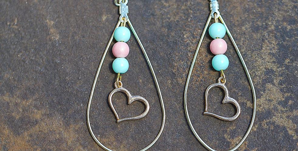 Heart on a String Earrings