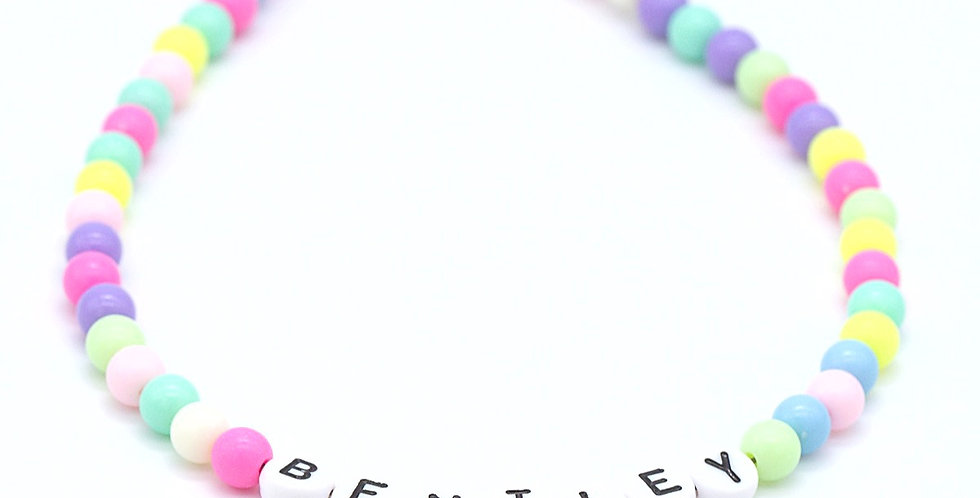 A Pop of Summer Name Necklace