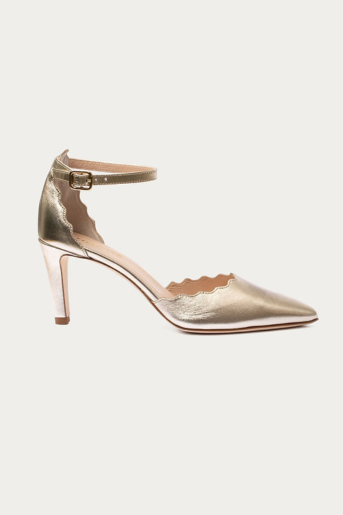 Thea Gold Metallic-Leder