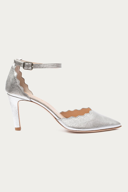 Thea Silber Metallic-Leder