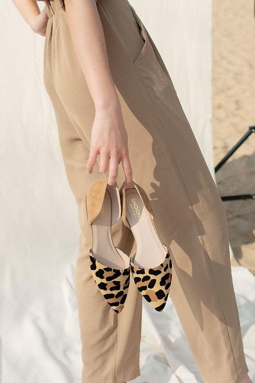 Olivia Leopard Wildleder
