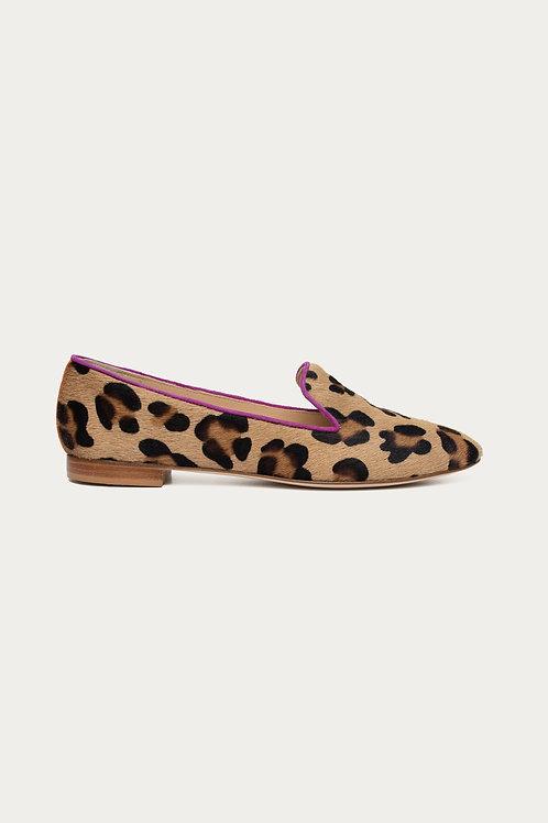 Amelie Pink Orange Leopard Felloptik