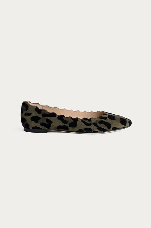Ada Olive Leoparden-Optik Wildleder