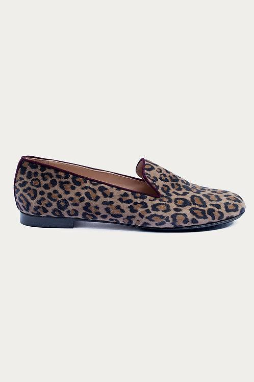 Cleo Leoparden Optik Wildleder