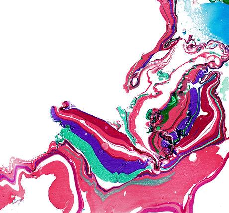 Peinture abstraite rose